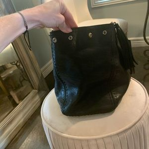 Anya Hindmarch Bags - Anya Hindmarch black leather tote bag - pre-loved
